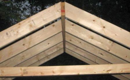 Двускатная крыша для птичника