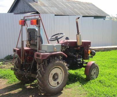 Собственноручно укрепленная рама на тракторе синтай 120