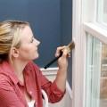 Как покрасить деревянные окна, окно