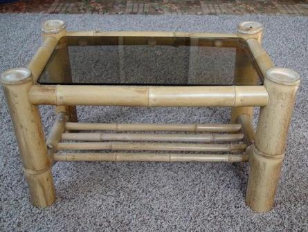 Журнальный столик из бамбука своими руками