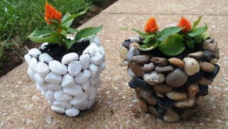 Поделки из камня своими руками для дачи