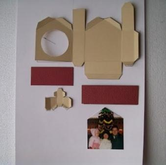 заготовка на домик из картона