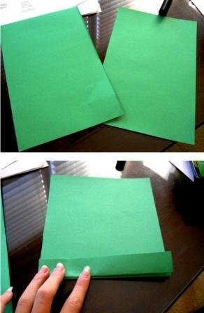 Делаем елочку из бумаги