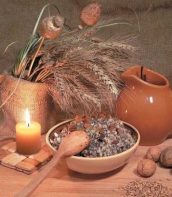 Кутья из пшеницы с цукатами