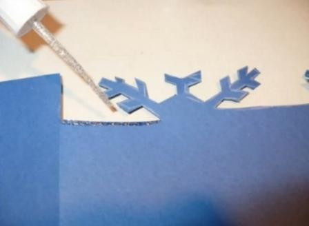 Рождественская открытка своими руками МК_4