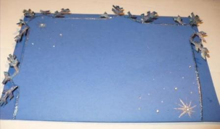 Рождественская открытка своими руками МК_6
