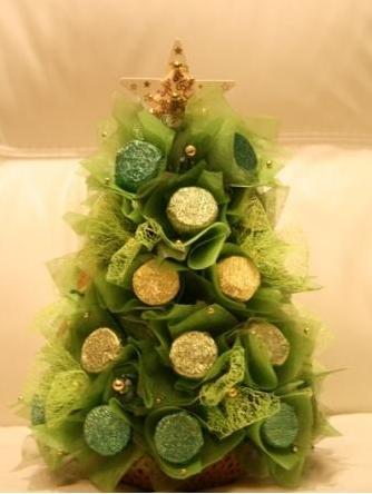 елка из органзы и конфет