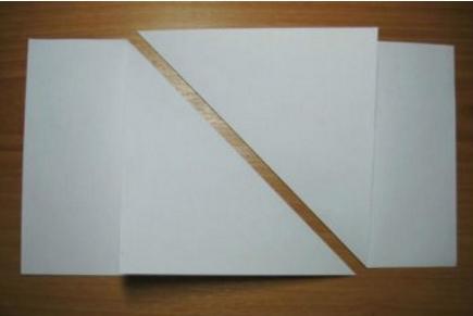 обьемная снежинка из бумаги с помощью одного листа бумаги_1