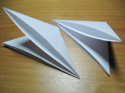 обьемная снежинка из бумаги с помощью одного листа бумаги_2