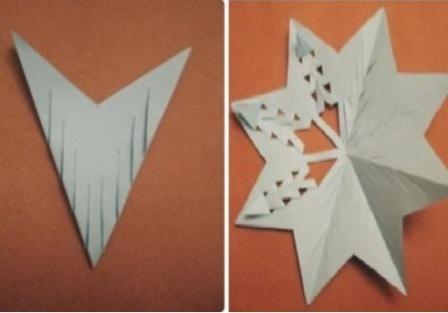 снежинка из картона в виде круга_1