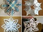 снежинки из бумаги своими руками