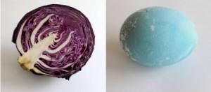 зеленый тон яйца с помощью капусты фото