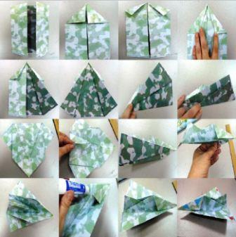 Самолет в стиле оригами своими руками
