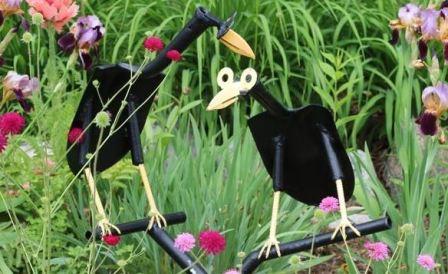 Птички своими руками из лопаты