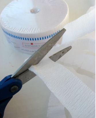 Как сделать снеговика из гофрированной бумаги