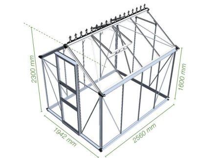Проект теплицы из поликарбоната и профильной трубы, с двускатной крышей
