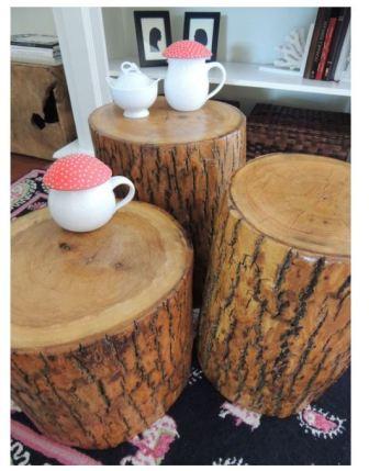 Столики из пней, фото