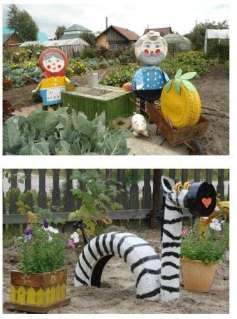 поделки для сада, огорода и дачи