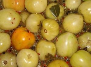 рецепт маринованных зеленых помидор как в магазине в советское время