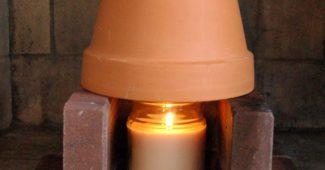 обогрев теплицы свечой
